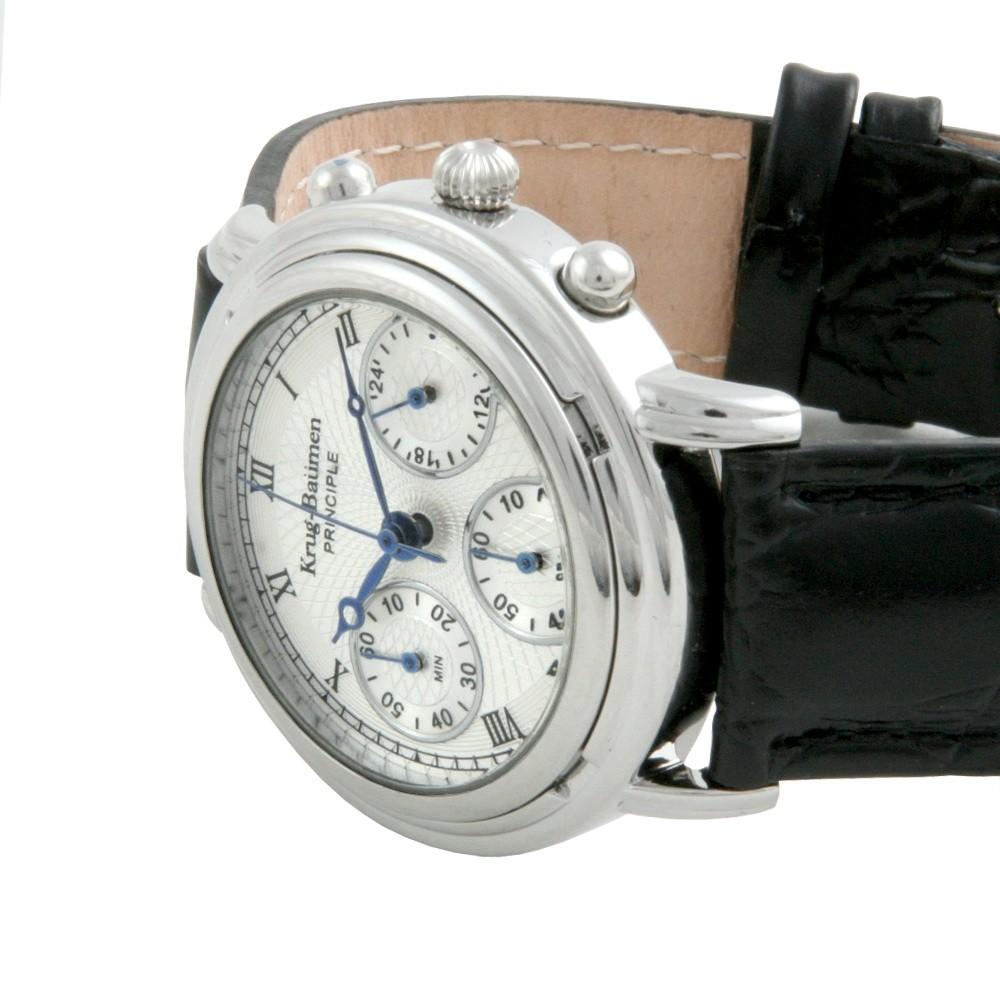 Krug-baumen 2011km Krug-baumen Principle Classic Mens Chronograph Watch Armbanduhren Model