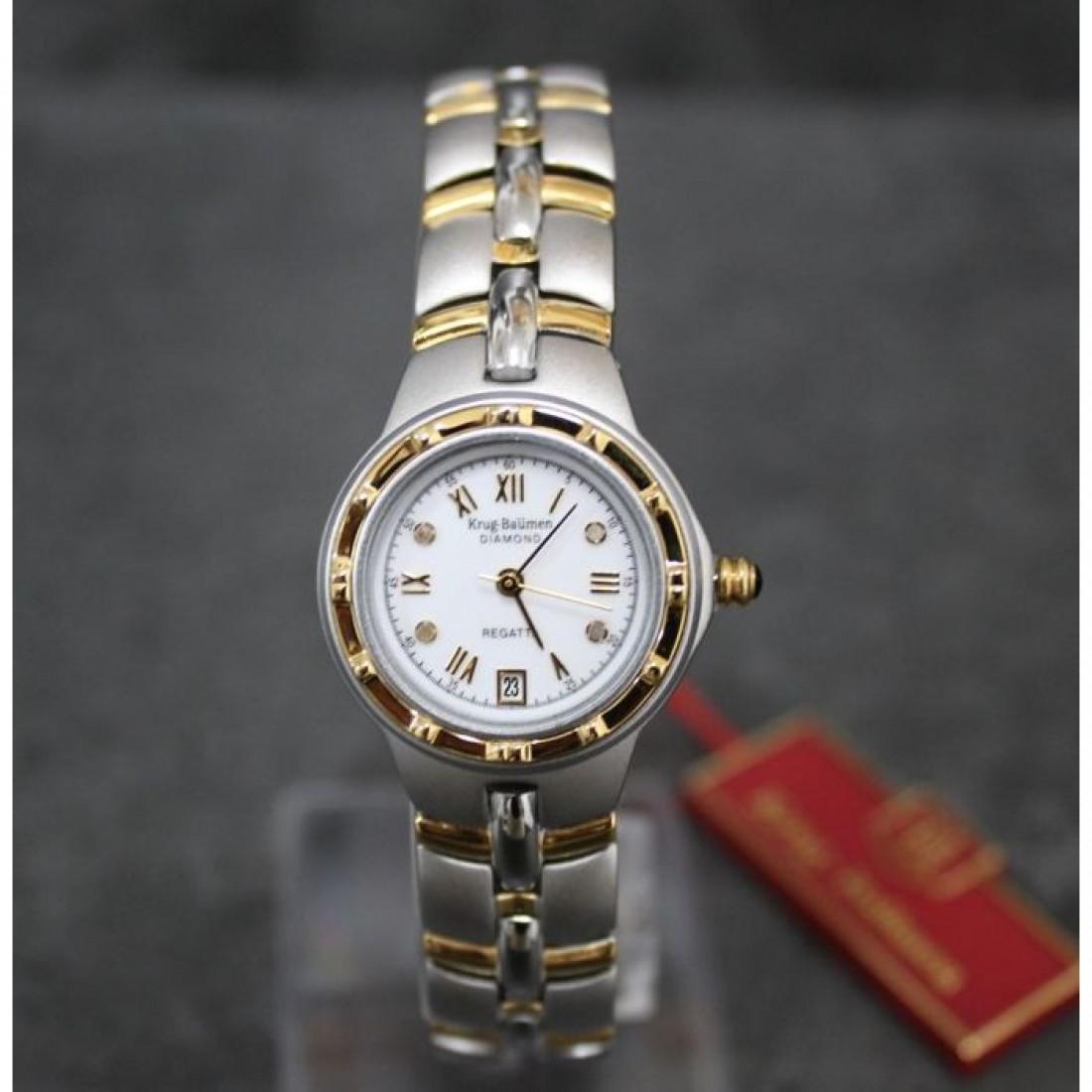 Women's Regatta Diamond Chronograph Watch White Dial