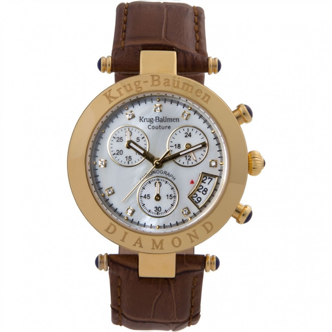 Women's Couture Diamond Gold/Brown Chronograph Watch