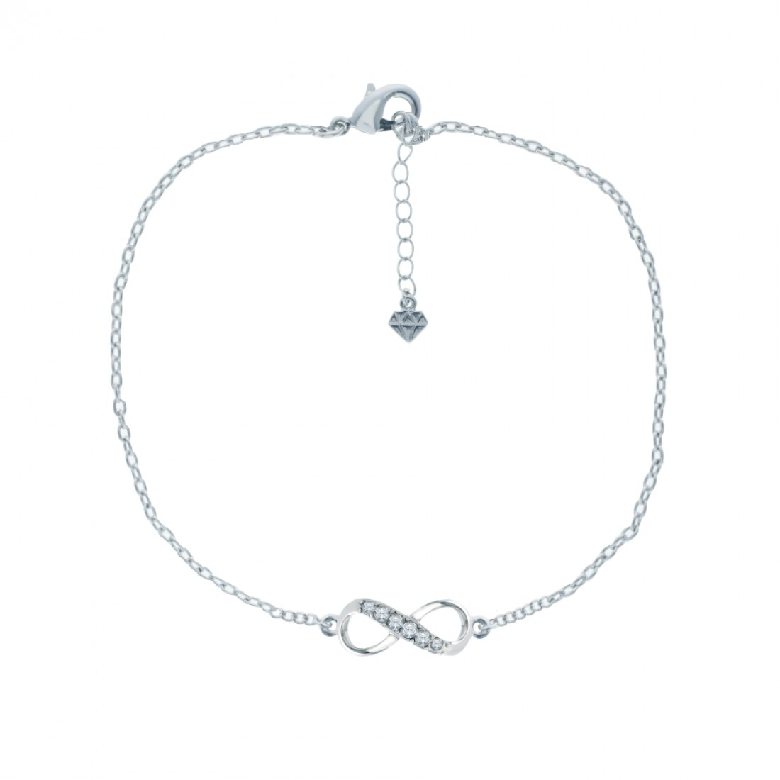 Infinity Anklet, Embellished with Crystals from Swarovski®