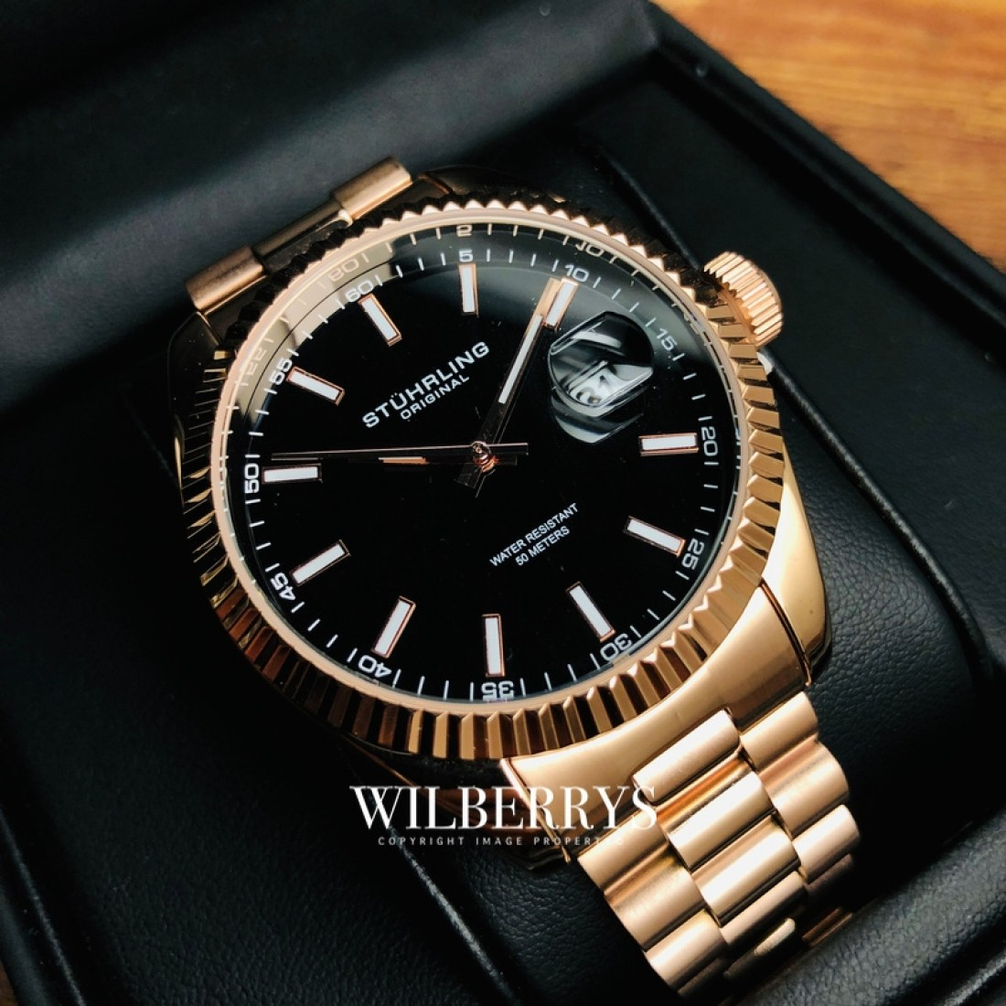 Men's Lineage Quartz 42mm Classic Rose Gold Plated Watch