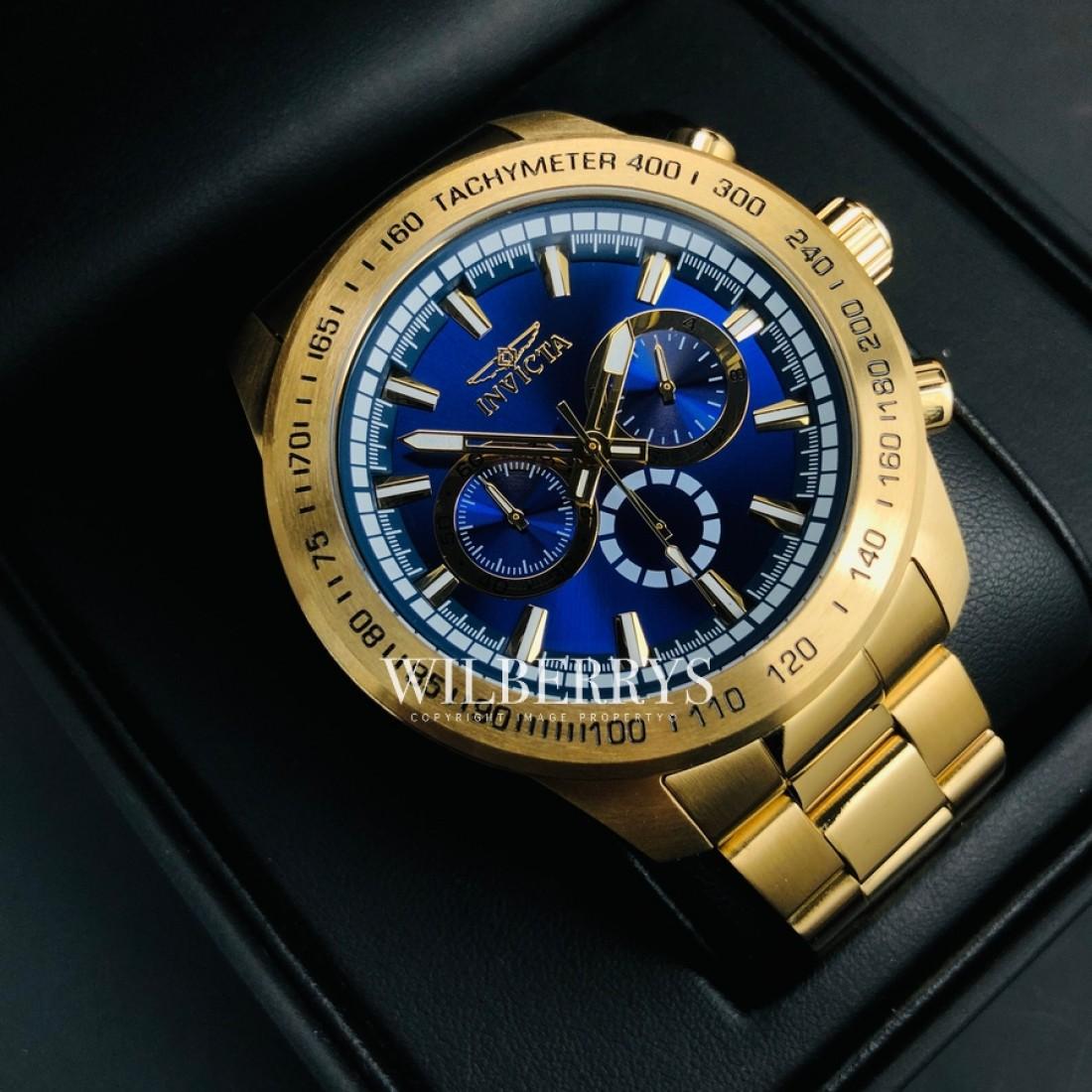 Speedway 48mm Gold Tone Watch