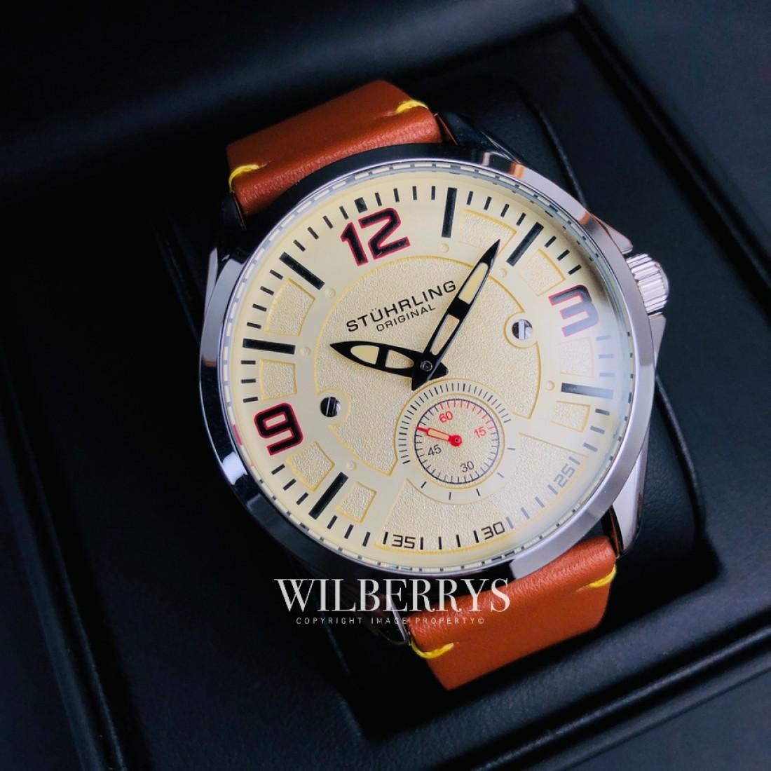 Men's Aviator Nimrod Cream Brown Watch