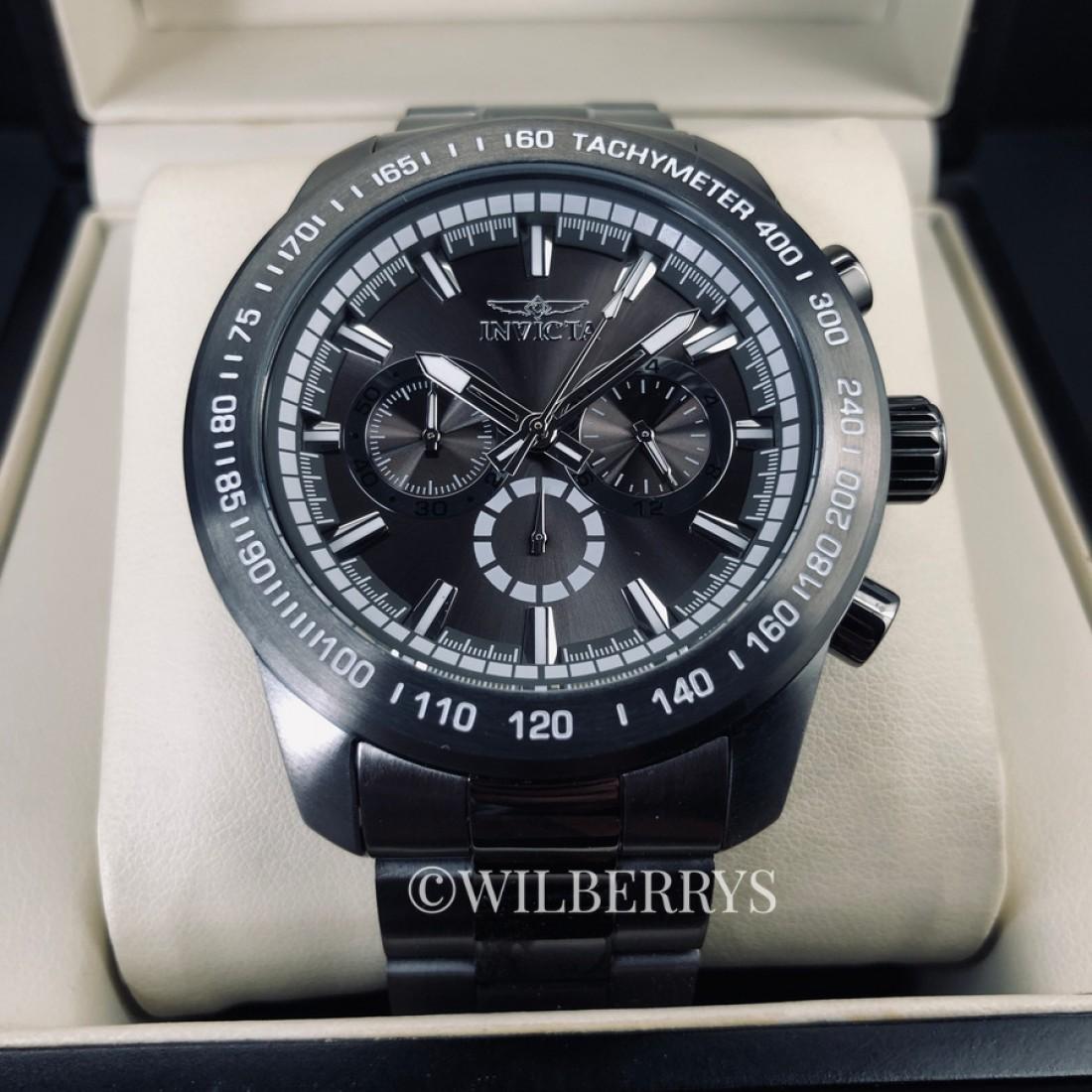 Men's Speedway 48mm Gunmetal Watch