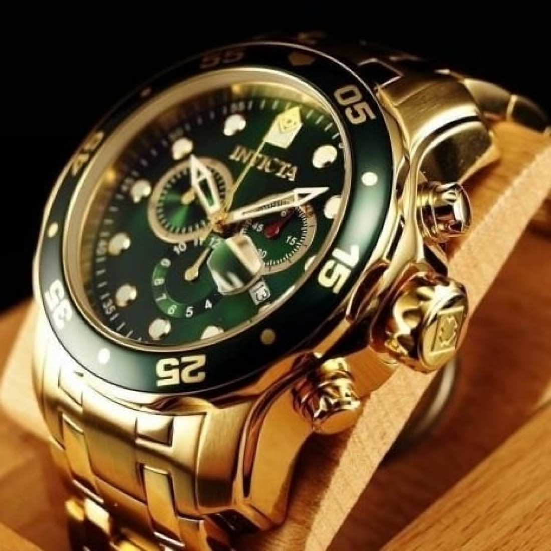 Men's Colossus 48mm Gold Plated Chronograph Watch
