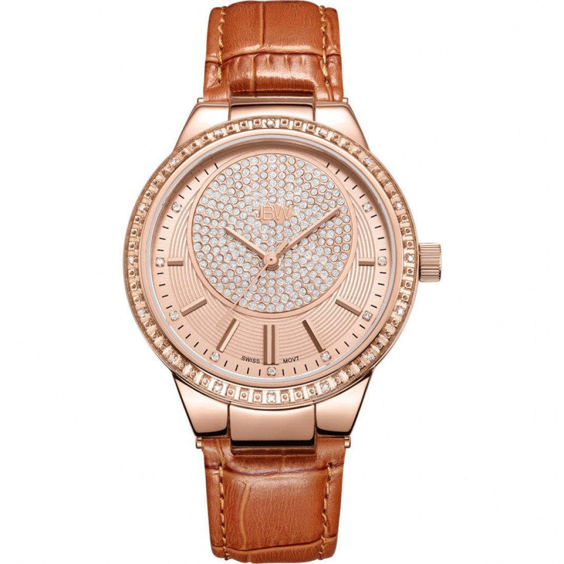 Women's Camille 0.16 ctw 18k Rose Gold-Plated Stainless Steel Diamond Watch J6345D