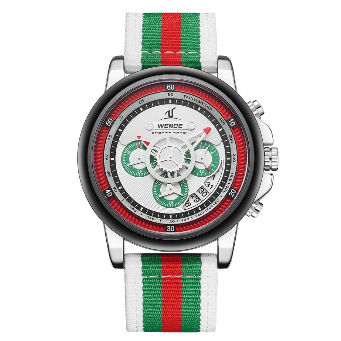 Europa Chronograph Nylon Green/White/Red
