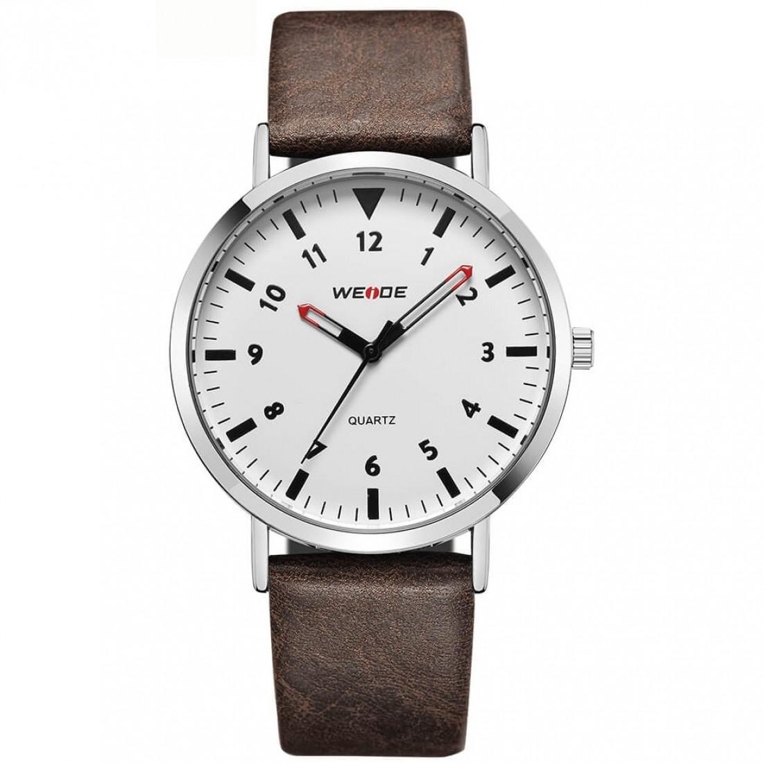 Classic Quartz 40mm Leather Brown/White