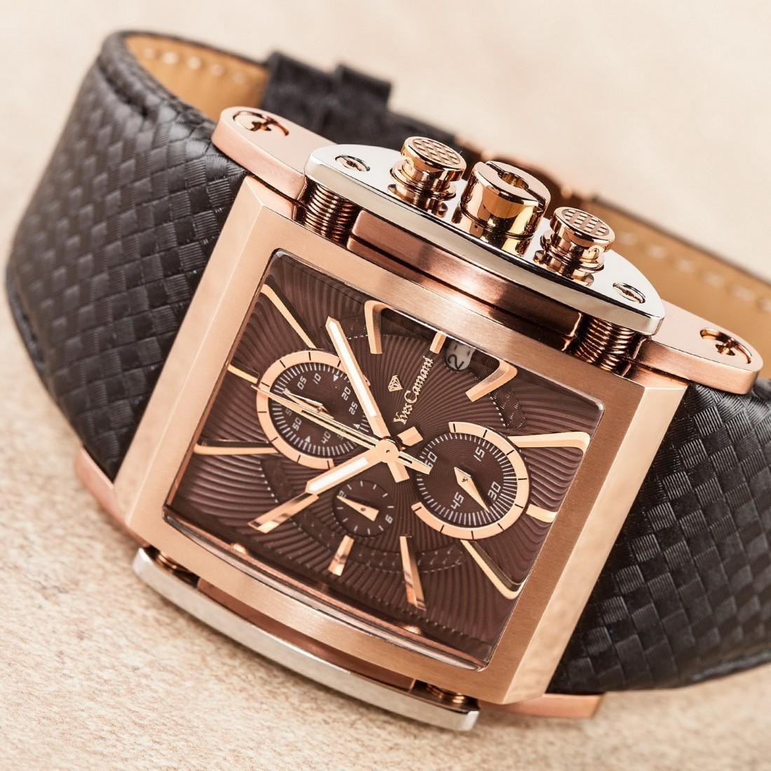 Men's Escaut Coffee/Rose Gold Chronograph Watch