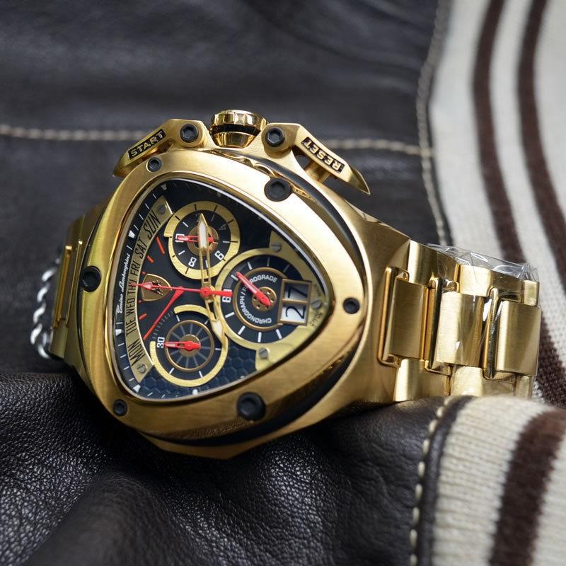 Tonino Lamborghini Men S Spyder Gold Edition 3010 Chronograph Watch