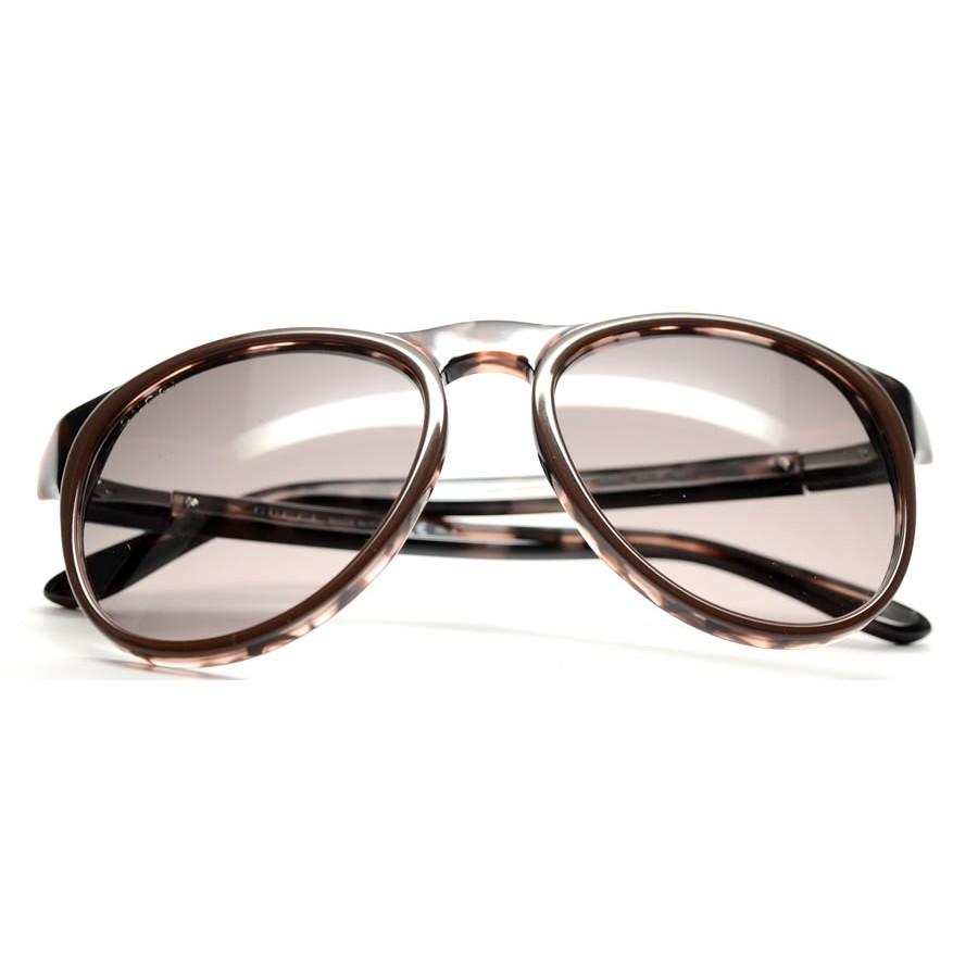 c9b9a8201bf Unisex GG1014 S 4ZR Brown Havana Round Preppy Sunglasses - Gucci ...