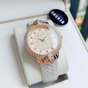 Women's Weave Rose Gold Beige Watch
