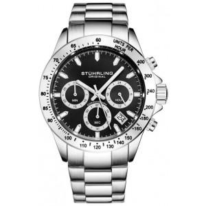 Men's Monaco Ultima Silver/Black Watch