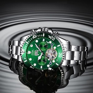 Perpetual Flywheel Date Automatic Green