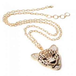 Jeweled Tiger Pendant