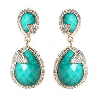 Pave Riverside Earring Turquoise