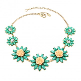 Amrita Rosemary Necklace Turquoise/Peach