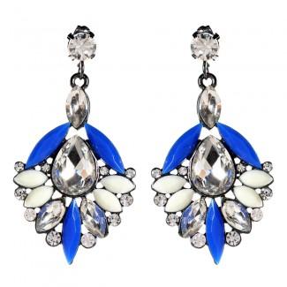 Bellisimo Earrings Blue/Ivory