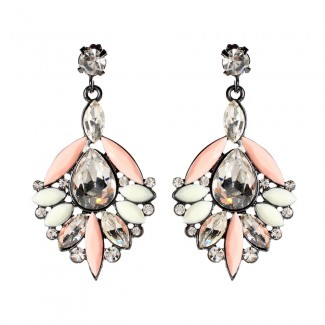 Bellisimo Earrings Peach/Ivory