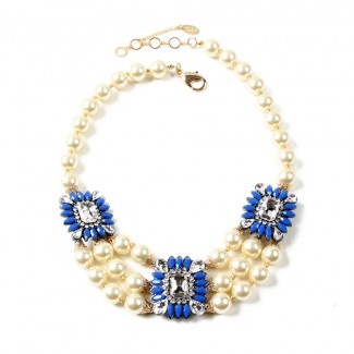 Aristocratic Necklace Blue
