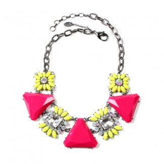 Cypress Necklace Yellow/Fuschia