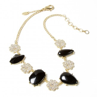 Dahlia Necklace Black