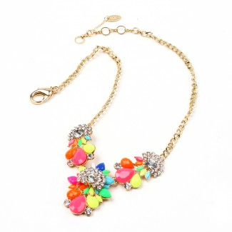 Goa Beach Necklace Gold/Multi