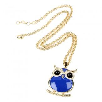 Miami Owl Pendant Blue