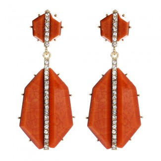 Art Deco Earring Coral