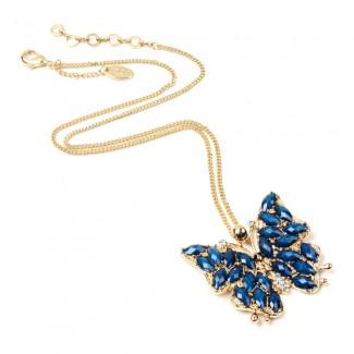 Hamptons Butterfly Necklace Blue Lapis