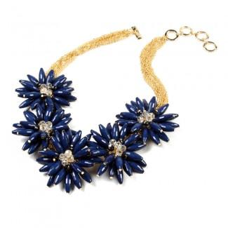 Botanical Necklace Blue/Lapis