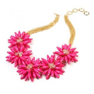 Botanical Necklace Fuschia