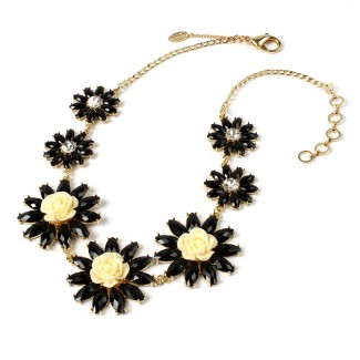 Amrita Rosemary Necklace Black/Ivory