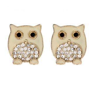 Chubby Owl Stud Ivory