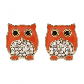 Chubby Owl Stud Orange