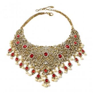 Gayatri Necklace Ruby