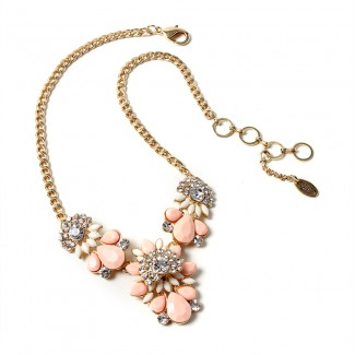 Goa Beach Necklace Peach/Ivory