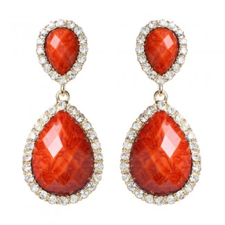 Shelter Island Earring Coral