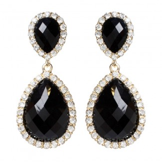 Shelter Island Earring Jet Black