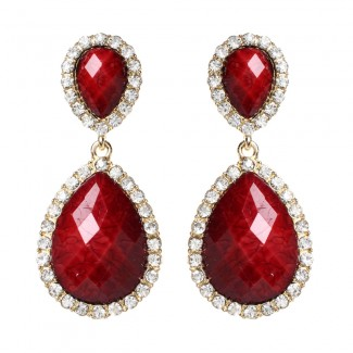 Shelter Island Earring Ruby
