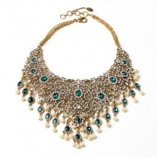 Gayatri Necklace Emerald