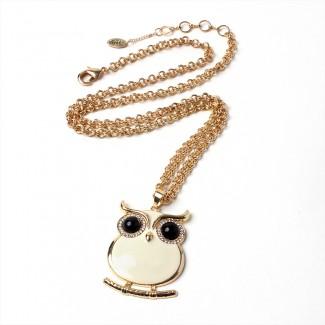 Miami Owl Pendant Ivory