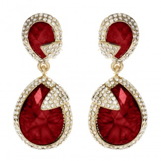 Pave Riverside Earring Ruby