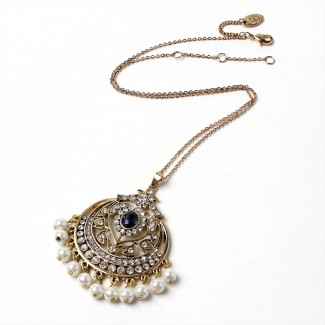 Gayatri Pendant Blue/Gold