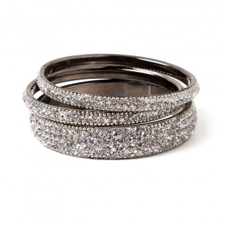 Glam Bangle Set Silver