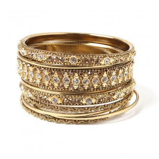 Keya Bangle Set Gold
