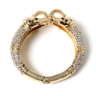 Luxe Elephant Hinge Cuff