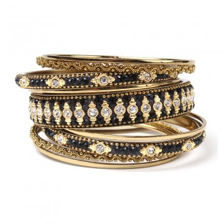 Keya Bangle Set Black
