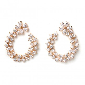 Virginia CZ Earring Gold/Clear