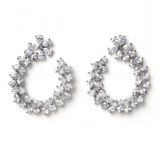 Virginia CZ Earring Silver/Clear